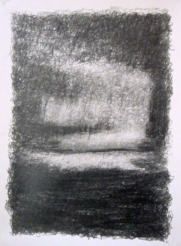 2-east-over-rannoch-moor-early-morning-graphite-stick-on-paper-2013