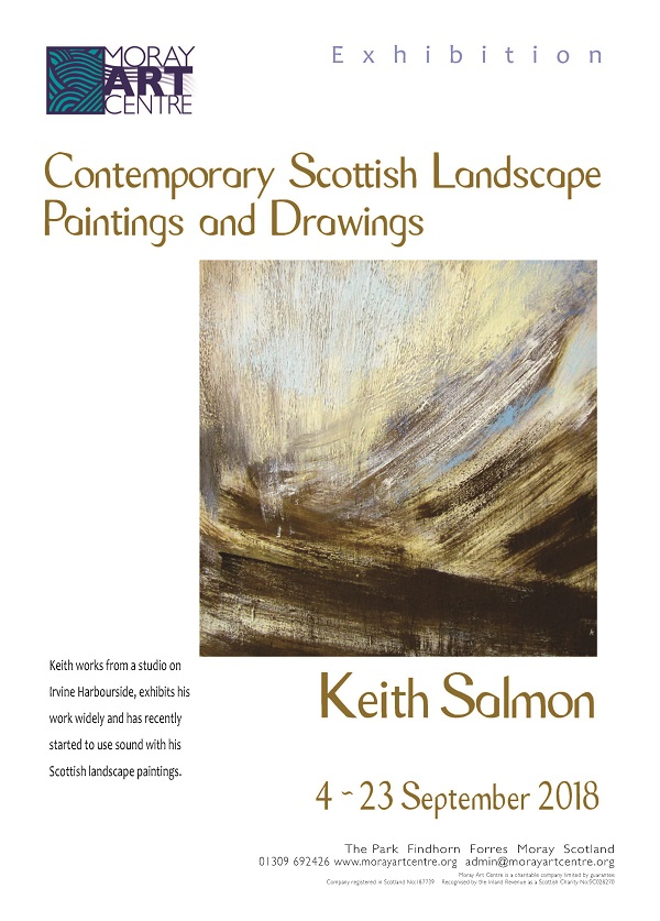 Keith Salmon exhibition poster Moray 2018