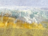 \'Drumochter Hills, early March\', Acrylic & Pastel, 2008, 60 x 30 cm