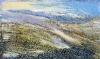 ´Overlooking Loch Ericht, February´, Acrylic-pastel-2009-100-x-60-cm