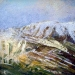 \'Early snow, Glen Shee, II\', Acrylic & Oil, 2006, 30 x 30
