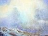 \'Approaching snow shower, Scottish Highlands\', Acrylic &