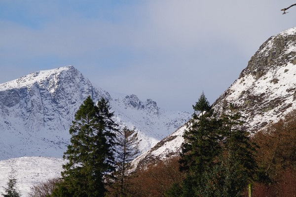 1 Towards the Arran mountains from Brodick Castle ground