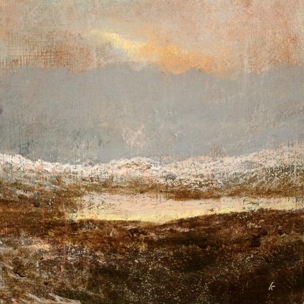 1s 'A Coigach landscape, January', Acrylic & Pastel, 2018, 30 x 30 cm