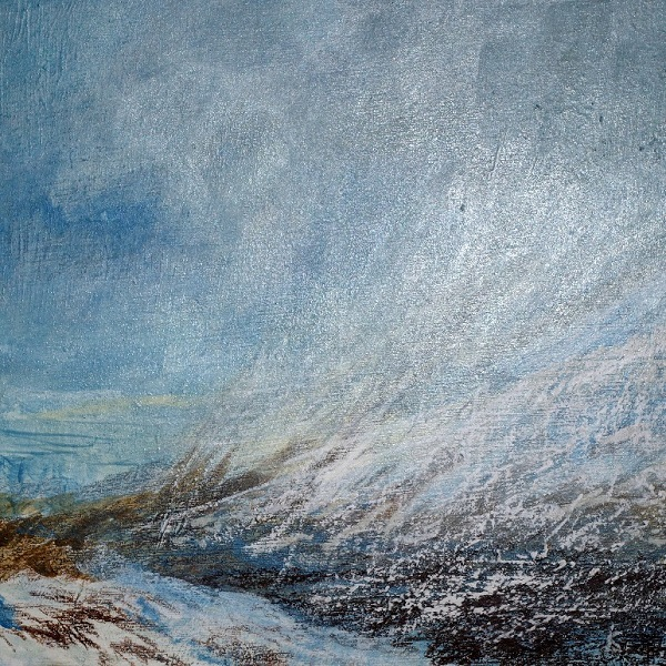 'From the Devil's Staircase, winter', Acrylic & Pastel, 2018, 30 x 30 cm