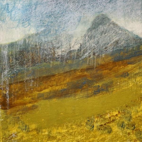 'Glen Sannox, a December morning', Acrylic & Pastel, 2017, 30 x 30cm