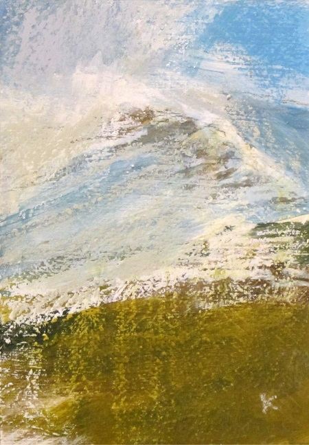 341 'From Gael Charn, the Drumochter Hills.jpg', Acrylic & Pastel, 2015, 210 x148 mm