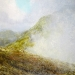 328 \'Approaching Stob Dubh, Glen Coe\', Acrylic & Pastel, 2014, 80 x 80 cm