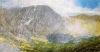 338 \'Passing shower, Lochnagar\', Acrylic & Pastel, 2015, 80 x 43 cm