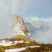 343 \'Above Glen Coe, spring\', Acrylic & Pastel, 2015 30 x 30 cm