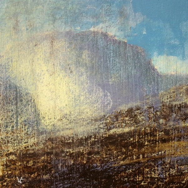 383 'Towards Ben Nevis', Acrylic & Pastel, 2017, 30 x 30cm