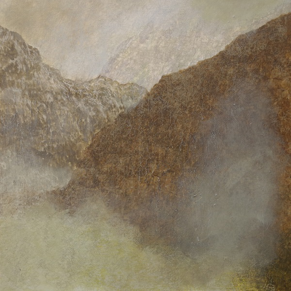 385 'A cold, damp winter's morning, Glencoe', Acrylic & Pastel, 2017, 80 x 80 cm
