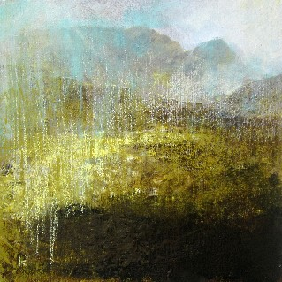 'Heavy down pour, Harris, May 2013', Acrylic & Pastel,2013, 30 x 30 cm