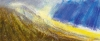 \'On the Luss Hills, early March\', Acrylic & Pastel, 91cm (w) x 38cm (h)