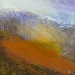 \'Winter slopes, Glen Lyon\', Acrylic & Pastel, 2009, 30 x 30cm