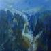 \'Moon and frozen crag, Beinn an Dothaidh\', Acrylic, 2005, 30 x 30 cm