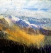'Towards the Lawers group, winter', Acrylic & Pastel, 200