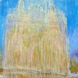 late-afternoon-the-cathedral-speyer-acrylic-pastel-2010-80-x-80-cm