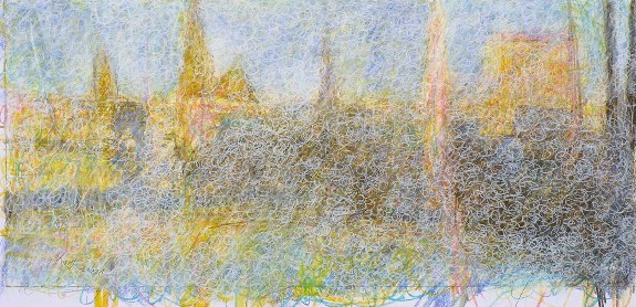 1.1. 'Harbour light, winter', pastel, 2003, 61 x 30cm
