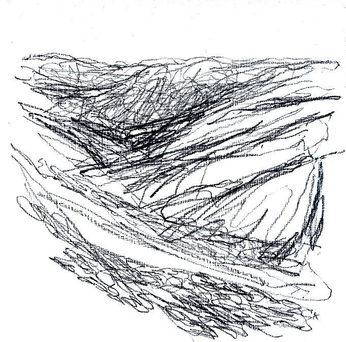 25 'Drumochter sketch', Pastel on gesso', 30 x 30 cm