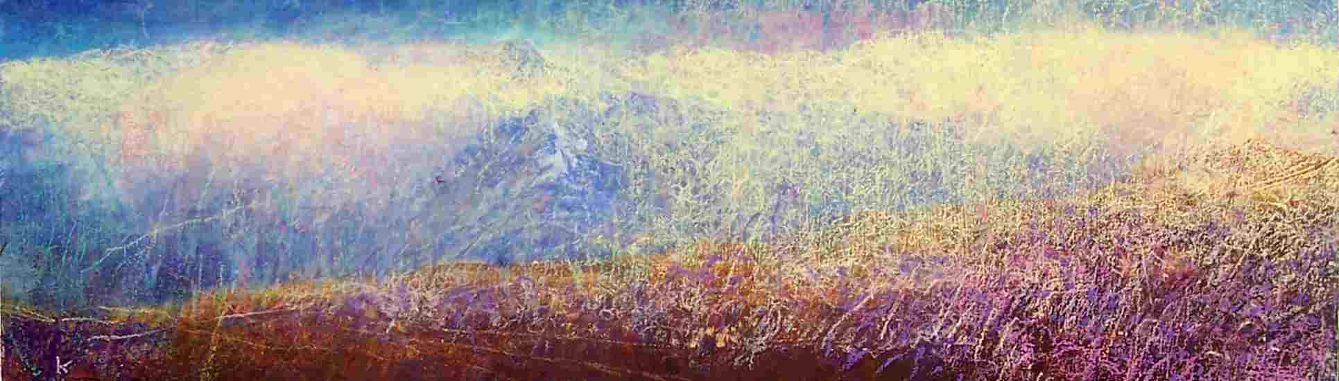 'Blackmount Autumn' , acrylic pastel 2007, 75 x23 cm Ref: 53