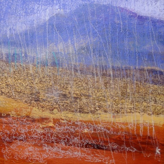 'Ben Lomond from the Luss Hills', Acrylic & Pastel, 2008, 30 x 30 cm Ref: 72