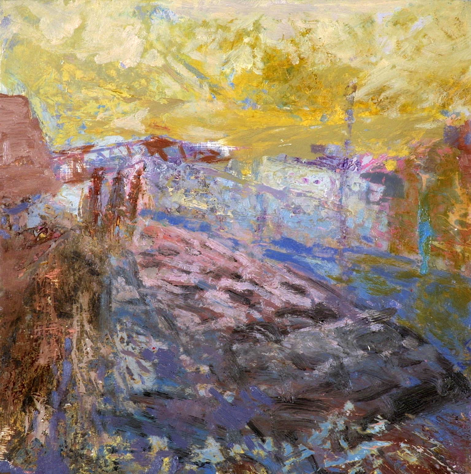 'Harbourside, Irvine', Oil, 30 x 30 cm