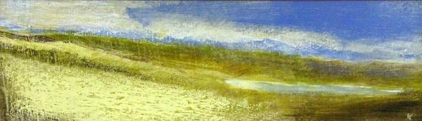 on-rannoch-moor-acrylic-pastel-2011-76-x-23-cm