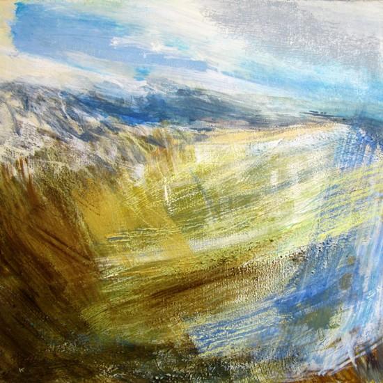 on-the-ridge-to-am-bodach-spring-acrylic-pastel-2011-80-x-80-cm-web