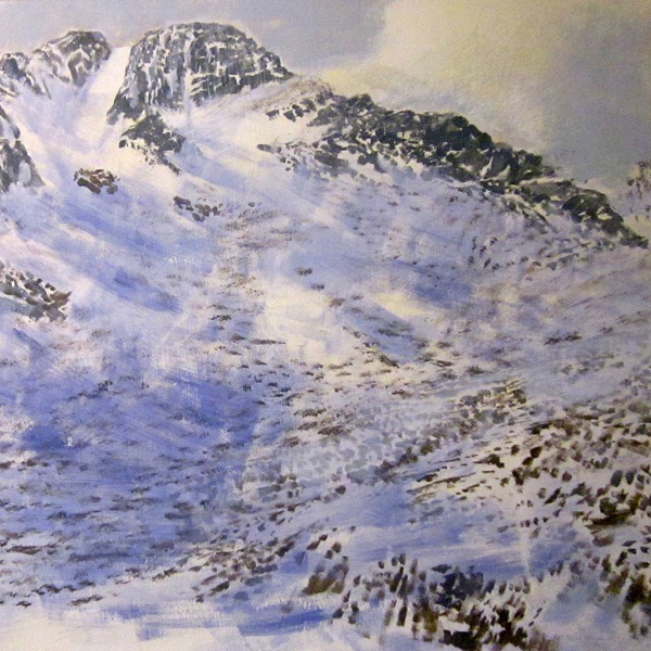 'Below the east ridge of Ben Lui, Winter' (Work in progress)
