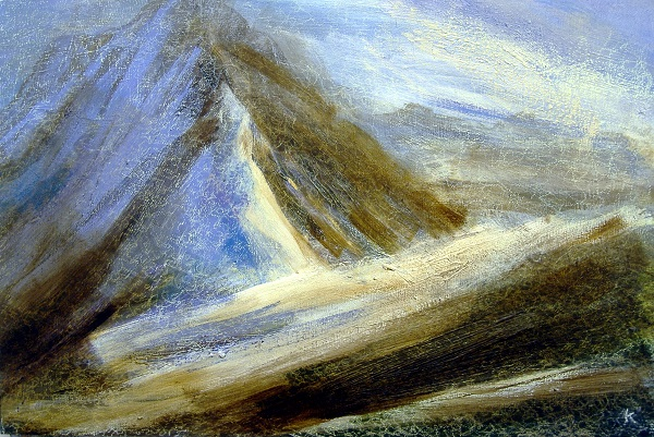 137 'Winter afternoon, Beinn Dorain', Acrylic & Pastel,  2009, 90 x 60 cm