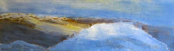 'From the east ridge of Ben Lui, April afternoon', Acrylic & Pastel, 2011, 76 x 23 cm