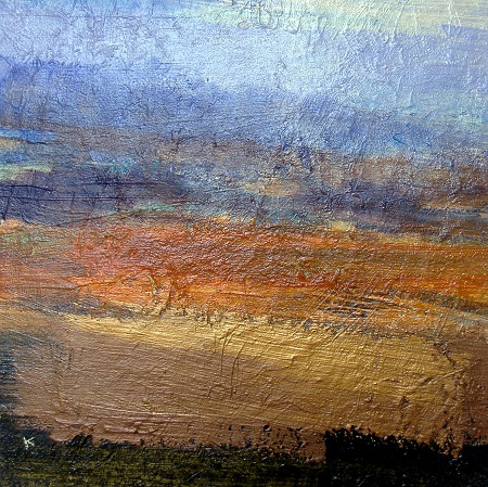 'From above Cononish', Acrylic & Pastel, 2010, 40 x 40 cm