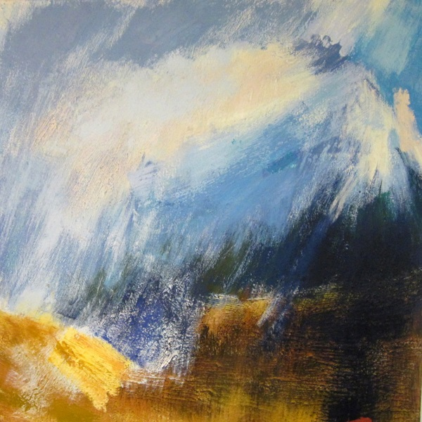 'Towards the Blackmount, winter', Oil on canvas, 2014, 120 x 120 cm
