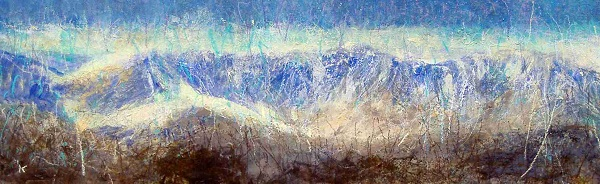 20 'From Creag MacRanaich, the Lawers group, Acrylic and Pastel, 2006, 74.5 x 32cm