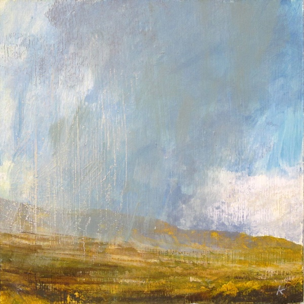 355 'Squall, on the edge of Rannoch Moor', Acrylic & Pastel, 2015, 30 x 30 cm