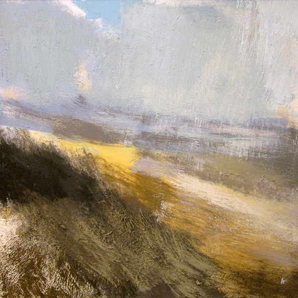 361 'Approaching snow shower, Rannoch Moor', Oil on canvas, 2015, 80 x 80 cm