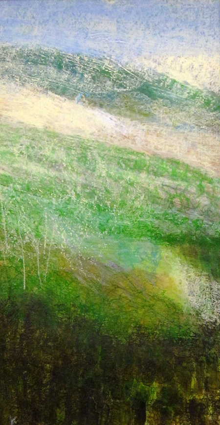 67a 'Below Shalloch on Minnoch', Acrylic & Pastel, 2007, 30 x 60 cm