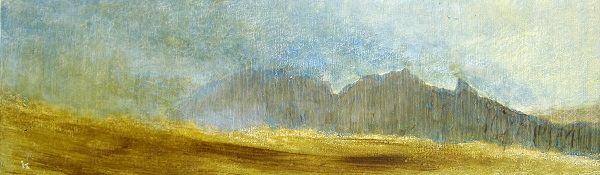 194 'The Cobbler from Ben Donich - a damp summer day', Acrylic & Pastel, 2011, 76 x 23 cm