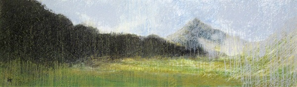 283 'In Glen Sannox, Isle of Arran', Acrylic & Pastel, 2013, 76 x 23 cm