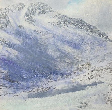 292-snow-shower-below-the-east-ridge-of-ben-lui-acrylic-pastel-2012-80-x-80-cm