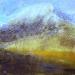 \'Sun and snow, in the Blackmount\', Acrylic & Pastel, 2013, 30 x 30 cm