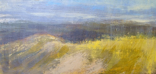 127 'From the summit of Ben Vrackie', Acrylic & Pastel, 2009, 60 x 30 cm