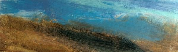 29 'From Ghlas Beinn, Rannoch moor', Acrylic & Pastel, 76 x 23 cm