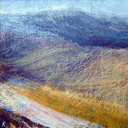 173 'From Carn Chois, above Loch Turret', Acrylic & Pastel, 2010, 30 x 30 cm