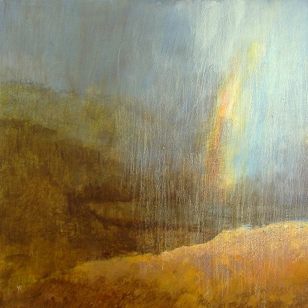186 'Above Loch Tulla, passing shower', Acrylic & Pastel, 2011, 60 x 60 cm