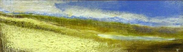 203 'On Rannoch Moor', Acrylic & Pastel, 2011, 76 x 23 cm