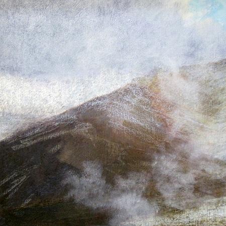 274  'On Beinn a' Ghlo', Acrylic & Pastel, 2013, 80 x 80 cm