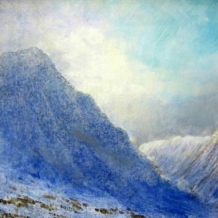 313s 'Towards Glen Coe, late afternoon, January', Acrylic & Pastel, 2014, 80 x 80 cm