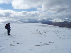 Summit plateau, A' Mharconaich
